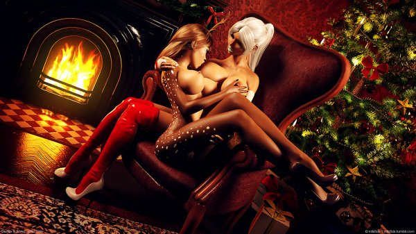 Miki3dx - Denise & Anna in Xmas Photo Shoot